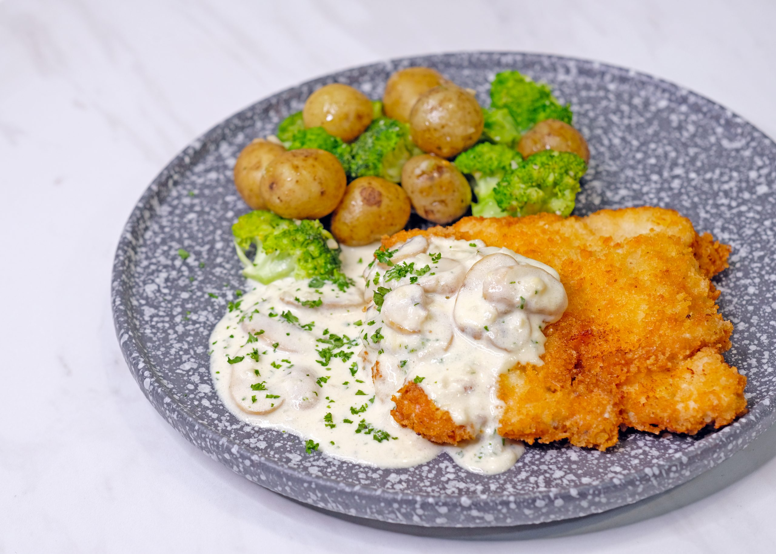Chicken Schnitzel With Creamy Mushroom Sauce Chef Sheilla